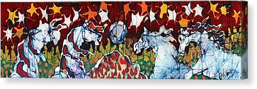 Band Of Horses Canvas Print by Carol Law Conklin