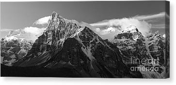 Snow-covered Landscape Canvas Print - Banff Mountain Range by Keith Kapple