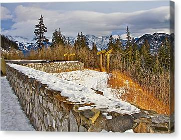 Banff Scene Canvas Print by Johanna Bruwer