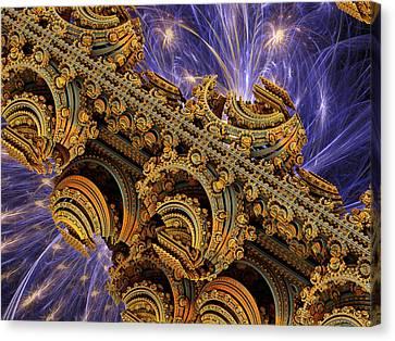 Bangkok Palace Canvas Print by Pam Blackstone
