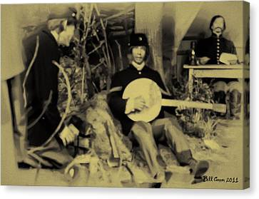 Banjo Playing Union Soldier Canvas Print by Bill Cannon