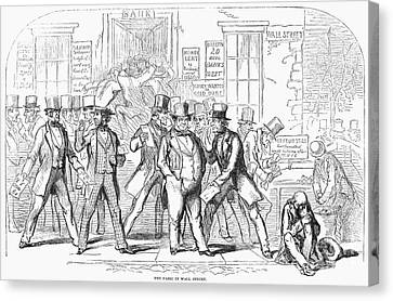 Bank Panic, 1857 Canvas Print by Granger