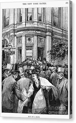 Bank Panic, 1890 Canvas Print by Granger