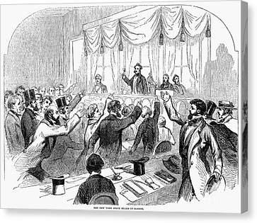 Bank Panic Of 1857 Canvas Print by Granger