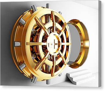 Bank Vault Door 3d Canvas Print by Gualtiero Boffi