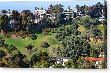 Bankers Hill San Diego Canvas Print by Russ Harris