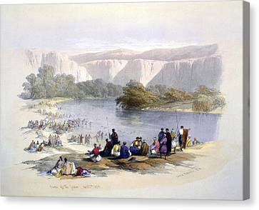 Banks Of The Jordan, 1839, Lithograph Canvas Print by Everett