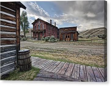 Bannack Ghost Town Mainstreet 2 - Montana Canvas Print by Daniel Hagerman