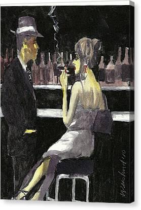 Bar Fly  15 Canvas Print by Harry WEISBURD