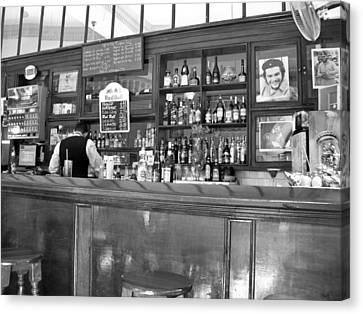 Canvas Print featuring the photograph Bar In Old Havana by Lynn Bolt