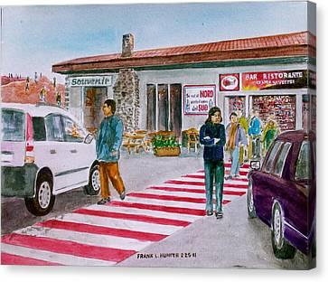 Bar Ristorante Mt. Etna Sicily Canvas Print by Frank Hunter