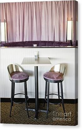Bar Table And Chairs Canvas Print by Andersen Ross