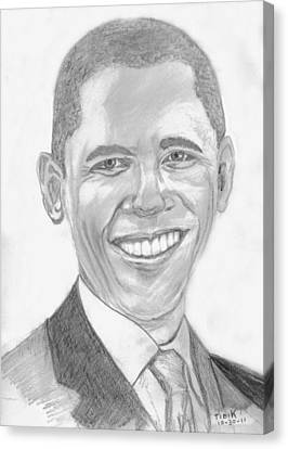 Barack Obama Canvas Print by Tibi K