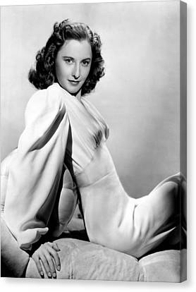 Barbara Stanwyck, Warner Brothers, 3746 Canvas Print by Everett