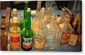 Barber Bottles Canvas Print by Marty Koch