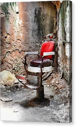 Barber Chair Canvas Print by Paul Ward