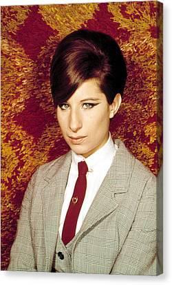 1960s Hairstyles Canvas Print - Barbra Streisand, 1960s by Everett