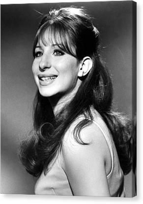 Barbra Streisand, Early 1960s Canvas Print by Everett
