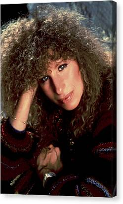 Barbra Streisand In Columbia Records Canvas Print by Everett