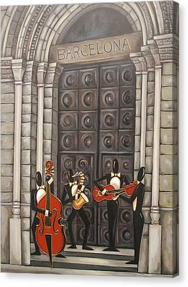 Barcelona Canvas Print by Lori McPhee