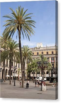 Barcelona Placa Reial Canvas Print by Matthias Hauser