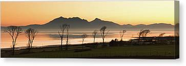 Bare Trees At Coast Canvas Print by Image by Peter Ribbeck