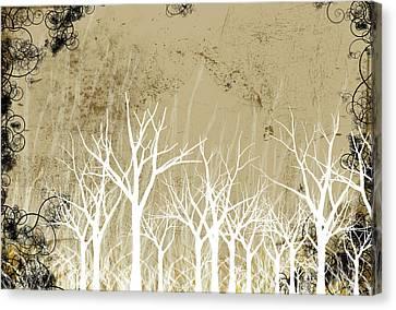 Bare Trees Canvas Print - Bare Winter Season Trees by Photos.com
