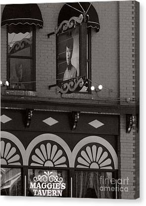 Canvas Print featuring the photograph Barhopping At Maggies 1 by Lee Craig