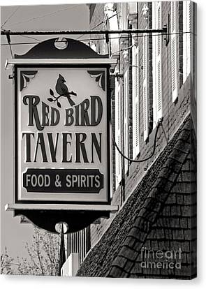 Canvas Print featuring the photograph Barhopping At The Red Bird 1 by Lee Craig