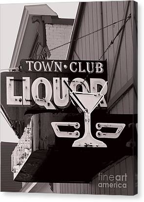 Canvas Print featuring the photograph Barhopping At The Town Club 1 by Lee Craig