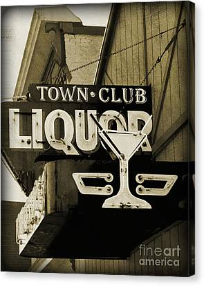 Canvas Print featuring the photograph Barhopping At The Town Club 2 by Lee Craig