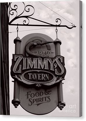 Canvas Print featuring the photograph Barhopping At Zimmys 1 by Lee Craig