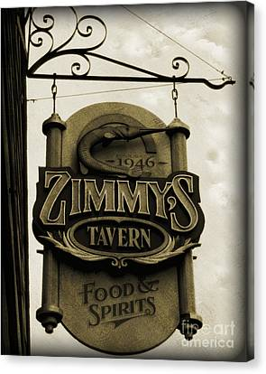 Canvas Print featuring the photograph Barhopping At Zimmys 2 by Lee Craig