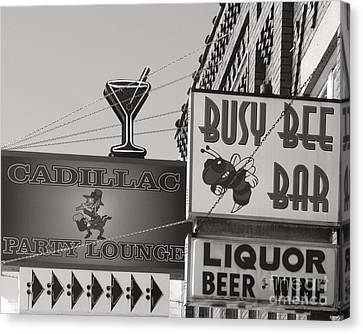 Canvas Print featuring the photograph Barhopping Cadillac Style 1 by Lee Craig