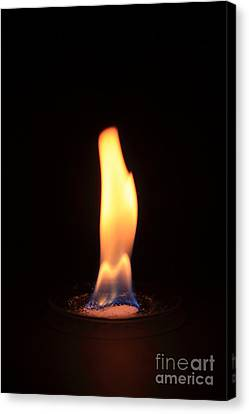 Barium Copperii Chloride Flame Test Canvas Print by Ted Kinsman