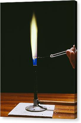 Barium Flame Test Canvas Print by Andrew Lambert Photography