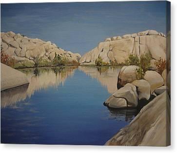Barker Dam Canvas Print by Barbara Prestridge
