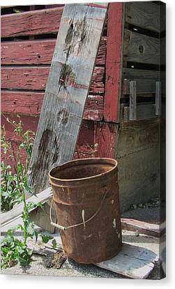 Barn And Barrel Canvas Print by Todd Sherlock