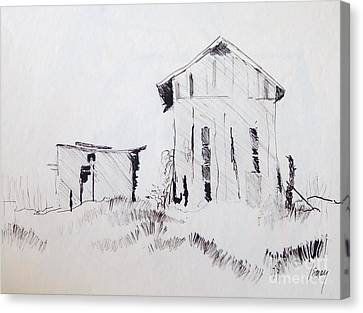 Barn And Shed Canvas Print by Rod Ismay