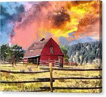 Barn And Sky Canvas Print by Anthony Caruso