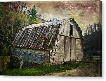 Barn At Twilight Canvas Print