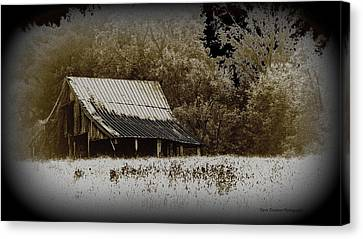 Barn In The Field Canvas Print by Travis Truelove
