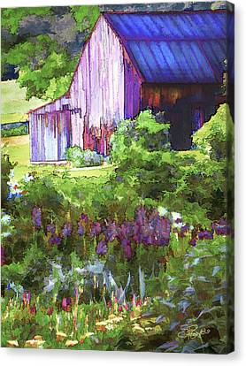 Barn In The Hollow Canvas Print by Suni Roveto