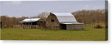 Barn In The Ozarks Canvas Print by Marty Koch
