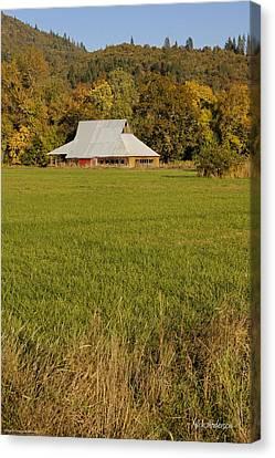 Barn Near Murphy Canvas Print by Mick Anderson