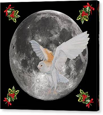 Barn Owl Christmas Canvas Print