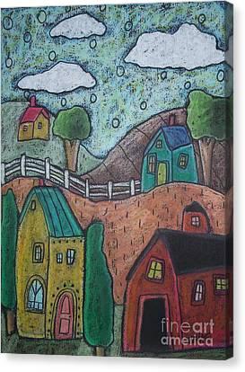 Barn Scene Canvas Print by Karla Gerard