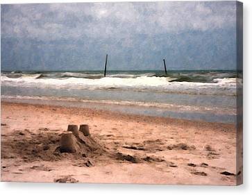Barnacle Bill's And The Sandcastle Canvas Print by Betsy Knapp