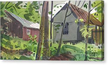 Barns 12 Canvas Print by Donald Maier