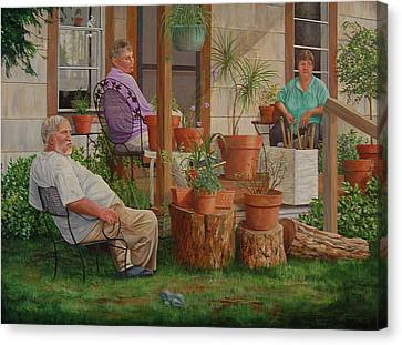 Canvas Print featuring the painting Baron's Estate by AnnaJo Vahle
